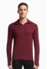 Icebreaker Mens Tech Top Long Sleeve Half Zip Redwood/ Redwood