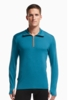 Icebreaker Mens Tech Top Long Sleeve Half Zip Shore/ Shore/ Spark