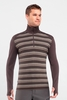 Icebreaker Mens Tech Top Long Sleeve Half Zip Stripe Walnut (Autumn 2013)