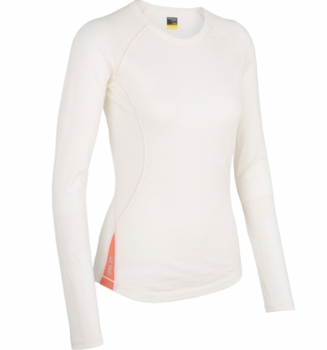 Icebreaker Womens Bolt Long Sleeve Crewe Snow XS