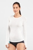 Icebreaker Womens Bolt Long Sleeve Crewe Snow (Spring 2014)