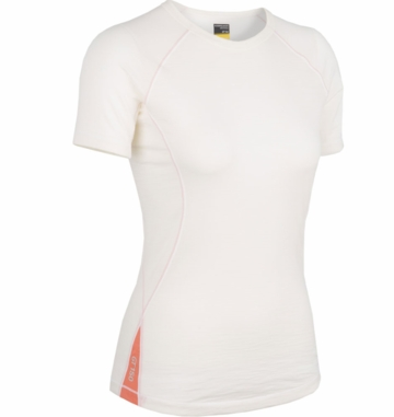 Icebreaker Womens Bolt Short Sleeve Crewe Snow (Spring 2014)