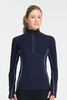 Icebreaker Womens Dart Long Sleeve Half Zip Admiral (Autumn 2013)