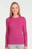 Icebreaker Womens Everyday Long Sleeve Crewe Magenta (Spring 2014)