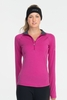 Icebreaker Womens Express Long Sleeve Half Zip Magenta (Autumn 2013)