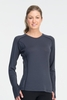 Icebreaker Womens Flash Long Sleeve Crewe Panther (Autumn 2013)