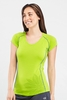 Icebreaker Womens Flash Short Sleeve V Honeydew (Spring 2014)