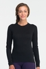 Icebreaker Womens Oasis Long Sleeve Crewe Black (Close Out)