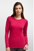 Icebreaker Womens Oasis Long Sleeve Crewe Garnet/ Garnet (Close Out)