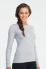 Icebreaker Womens Oasis Long Sleeve Crewe Blizzard Heather (Close Out)