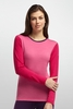 Icebreaker Womens Oasis Long Sleeve Crewe Shocking/ Garnet/ Vino (Close Out)