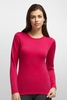 Icebreaker Womens Oasis Long Sleeve Crewe Garnet/ Garnet (Autumn 2014)
