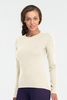 Icebreaker Womens Oasis Long Sleeve Crewe Snow (Autumn 2013)