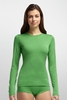 Icebreaker Womens Oasis Long Sleeve Crewe Stripe Frond (Autumn 2014)