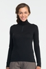Icebreaker Womens Oasis Long Sleeve Half Zip Black (Autumn 2013)