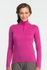 Icebreaker Womens Oasis Long Sleeve Half Zip Magenta (Autumn 2013)