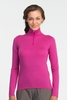Icebreaker Womens Oasis Long Sleeve Half Zip Magneta (Close Out)