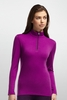 Icebreaker Womens Oasis Long Sleeve Half Zip Vivid/ Vino (Close Out)