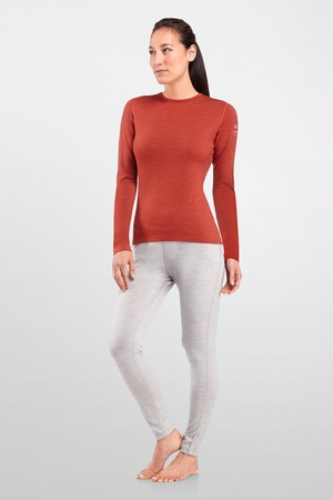 Icebreaker Womens Oasis Long Sleeve Stripe Auburn (Autumn 2013)