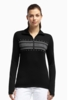 Icebreaker Womens Tech Long Sleeve Half Zip Fair Isle Black