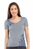 Icebreaker Womens Tech Short Sleeve Scoop Garden Mineral Small