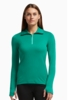 Icebreaker Womens Tech Top Long Sleeve Half Zip Nautical/ Patina