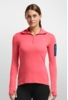 Icebreaker Womens Vertex Long Sleeve Half Zip Grapefruit/ Night