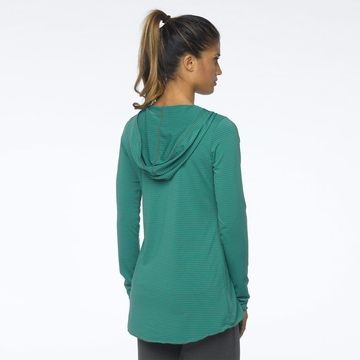 Prana Womens Perry Stripe Pullover Dynasty Green