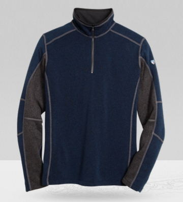 Kuhl Mens Revel 1/4 Zip Navy/ Steel (Autumn 2013)