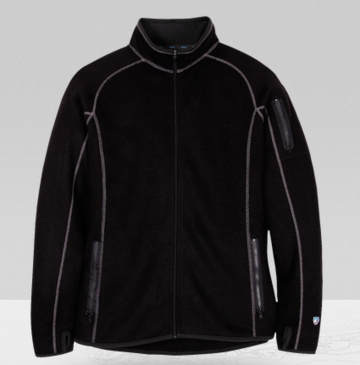 Kuhl Mens Scandinavian Full Zip Jacket Black (Autumn 2013)