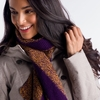 Lole Womens 2 Tone Scarf Blackberry