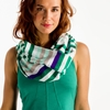 Lole Womens Creation Tubular Scarf Glade Green Mutli Stripes (Spring 2014)