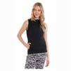 Lole Womens Echo Sleeveless Hoodie Black