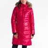 Lole Womens Katie Jacket Real Fur Red Sea