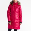 Lole Womens Katie Jacket Real Fur Speckled Red Sea
