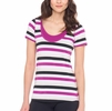 Lole Womens Kiss Top Passiflora Multi- Stripes (Spring 2015)