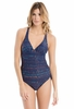 Lole Womens Madeira Swim One-Piece Evening Blue Hammock