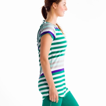 Lole Womens Patricia Tunic Glade Green Multi Stripes (Spring 2014)
