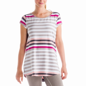 Lole Womens Patricia Tunic Warm Grey Multi Stripes (Spring 2014)