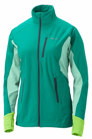 Marmot Womens Fusion Jacket Gem Green/ Ice Green (close out)