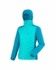 Millet Womens Hybrid Langtang Hooded Down Jacket Blue Bird/ Deep Horizon