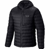 Mountain Hardwear Dynotherm Hooded Down Jacket Black (close out)