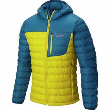 Mountain Hardwear Dynotherm Hooded Down Jacket Electron Yellow (Close Out)