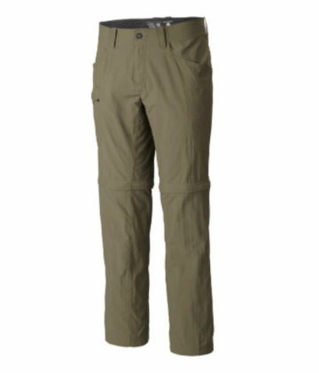 Mountain Hardwear Mens Convertible Pant v2 Stone Green