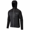 Mountain Hardwear Mens Desna Grid Hooded Jacket Black