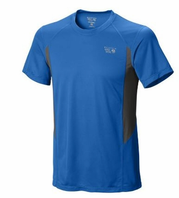 Mountain Hardwear Mens Double Wicked Short Sleeve T Hyper Blue