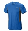 Mountain Hardwear Mens Double Wicked Short Sleeve T Hyper Blue (Close Out)