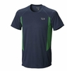Mountain Hardwear Mens Double Wicked Short Sleeve T Zinc (Close Out)