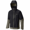 Mountain Hardwear Mens Dragons Back Jacket Black/ Stone Green (close out)