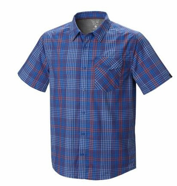 Mountain Hardwear Mens Drummond Short Sleeve Shirt Azul (Close Out)